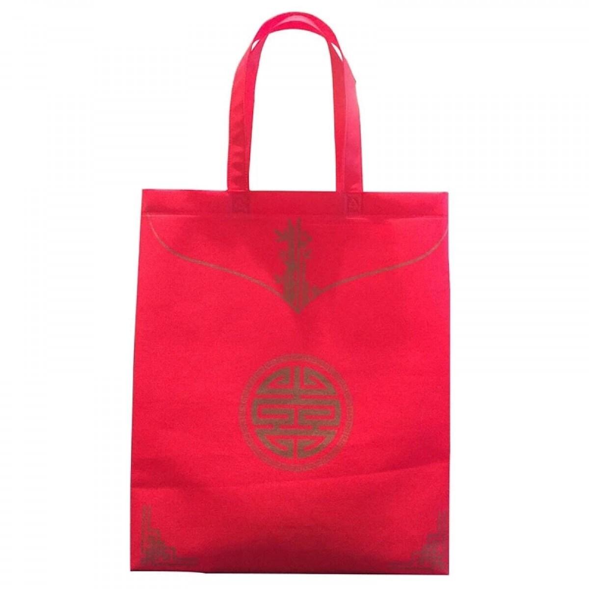 红色喜庆礼品袋现货 过年佳节送礼无纺布袋 加厚婚庆婚礼无纺布袋