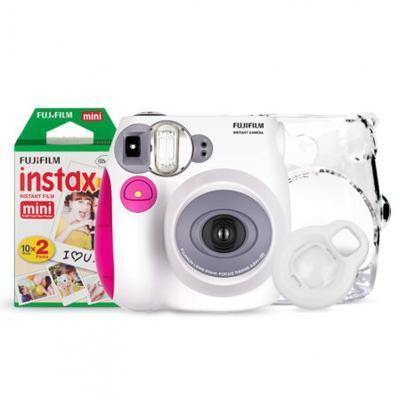 富士(FUJIFILM)INSTAX 一次成像相机 MINI7s相机 粉 入门套餐(20张胶片)