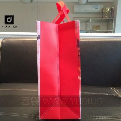 大量现货 覆膜福袋年货礼品袋 喜庆礼品包装袋 红色无纺布覆膜袋