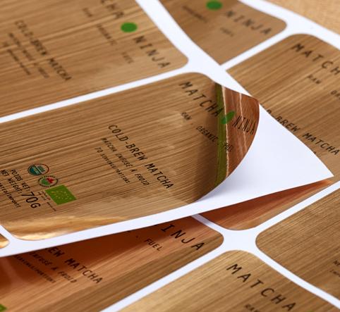 拉丝金5*5cm1000张印刷不干胶标签定制