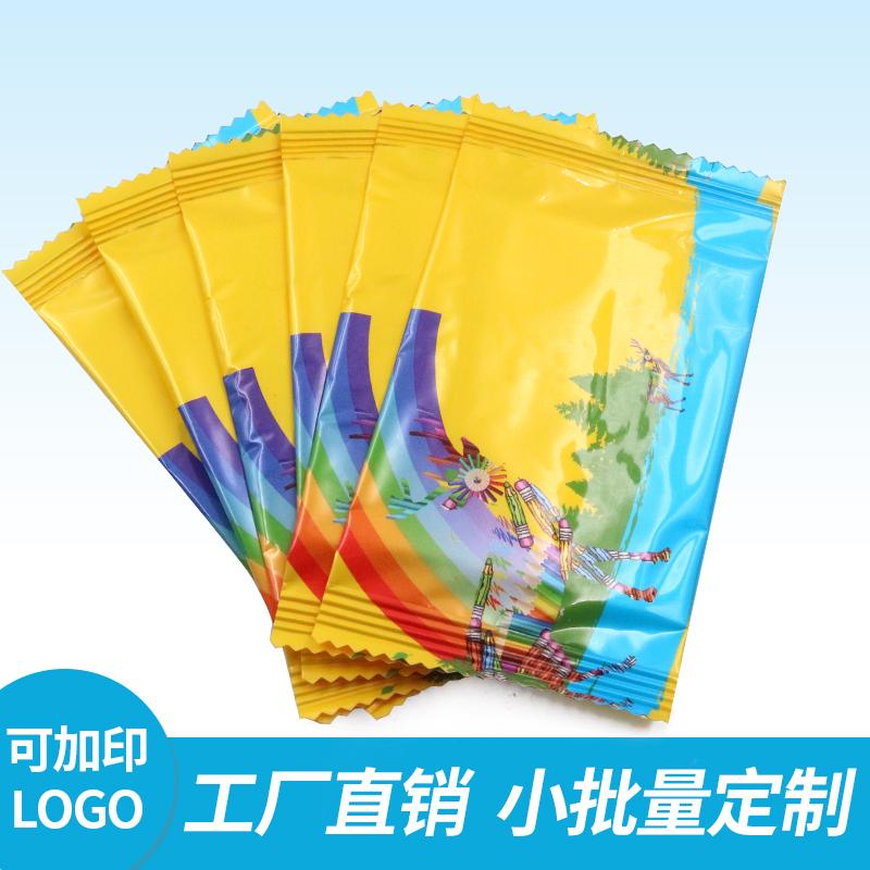 一次性创意湿纸巾定制便携随身带迷你小包单片装湿巾订做可印logo