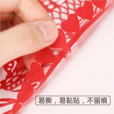 新年装饰春节布置玻璃门贴窗花定制